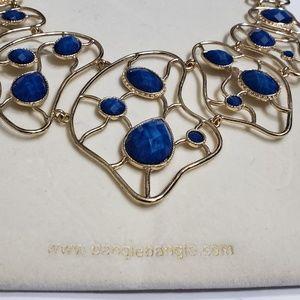 Amrita Singh Blue & Gold Statement Necklace